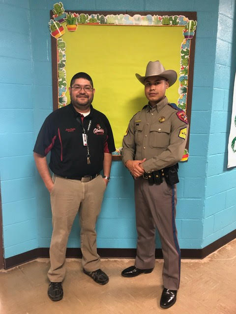 Mr. L. Cantu with DPS Officer