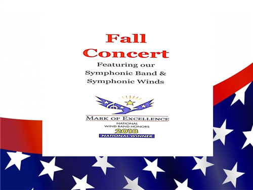 Fall Concert Cover Page