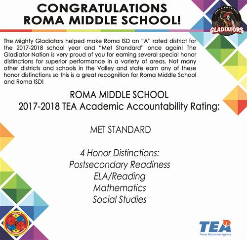 TEA Distinctions 2017-2018