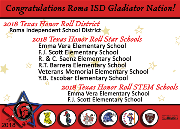 2018 Roma ISD Honor Roll Graphic