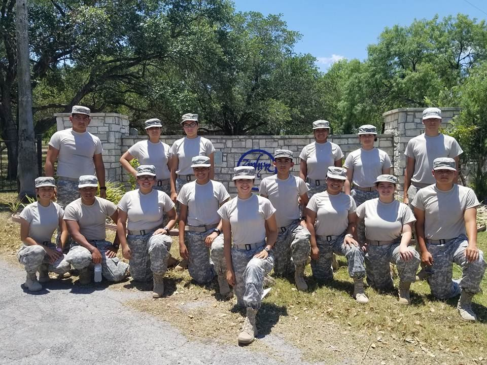 Roma HS Army JROTC Gladiator Battalion Attend JROTC Cadet Leadership Challenge Camp 2018
