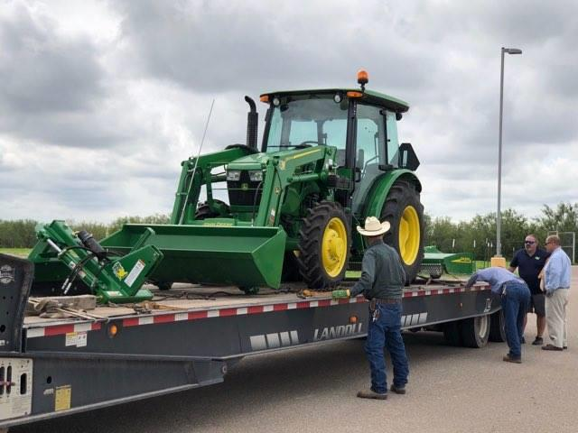 Roma ISD's New Tractor.