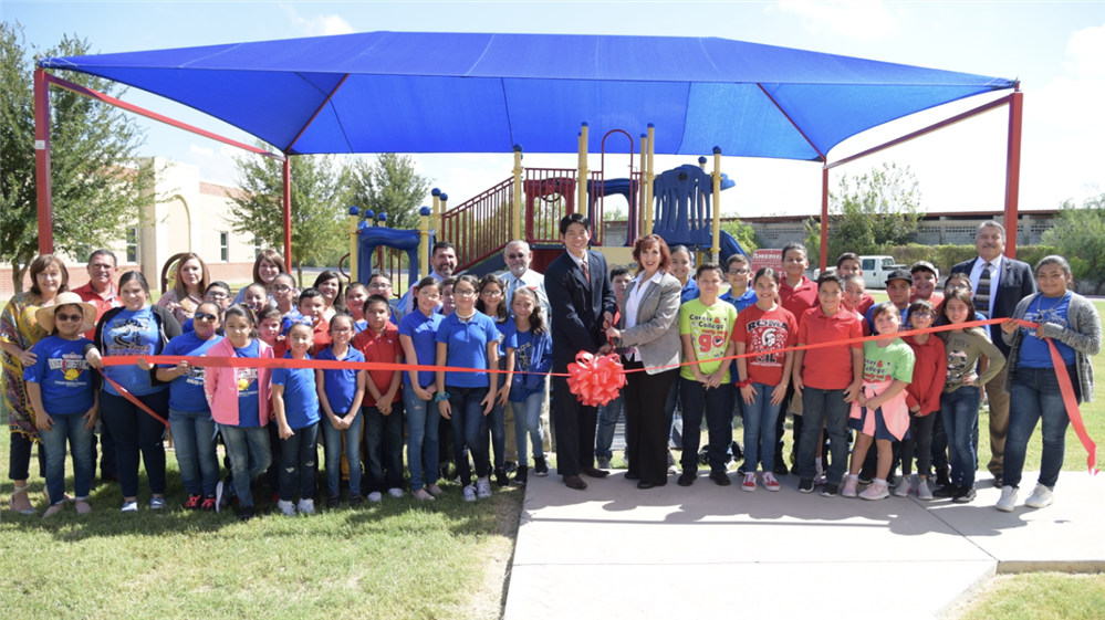 American Academy of Dermatology Funds Shade Structure at Roma ISD's Veterans Memorial Elementary School