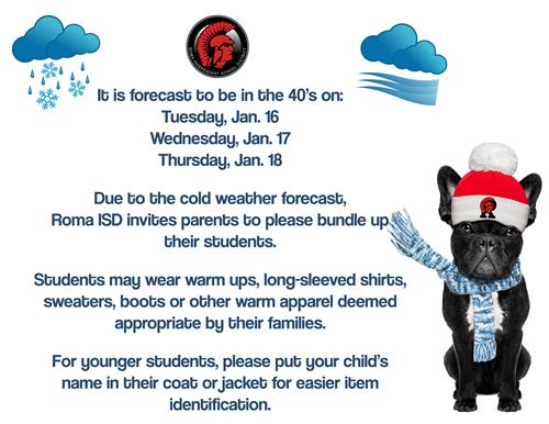 Cold Weather Clothing Notice