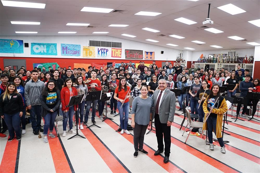 Roma High School Band on being honored by the Rio Grande Valley Band Directors Hall of Fame