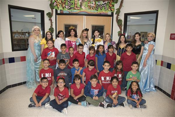 Elementary Campuses Receive Visits from Princesses Ahead of STAAR Tests.