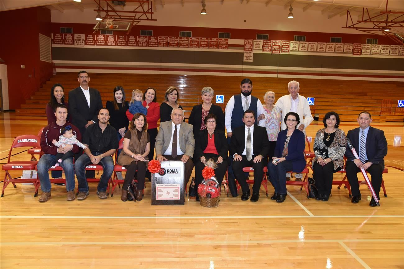 Roma ISD Names Gladiator Arena Basketball Court in Honor of Coach Eleuterio Garza Jr.