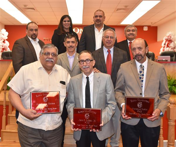 Roma ISD Honors Former All-State Basketball Players.