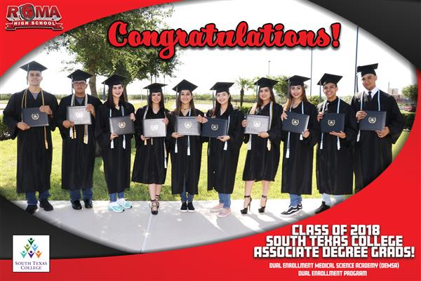 10 Roma High Seniors Graduate with Associate Degrees from South Texas College