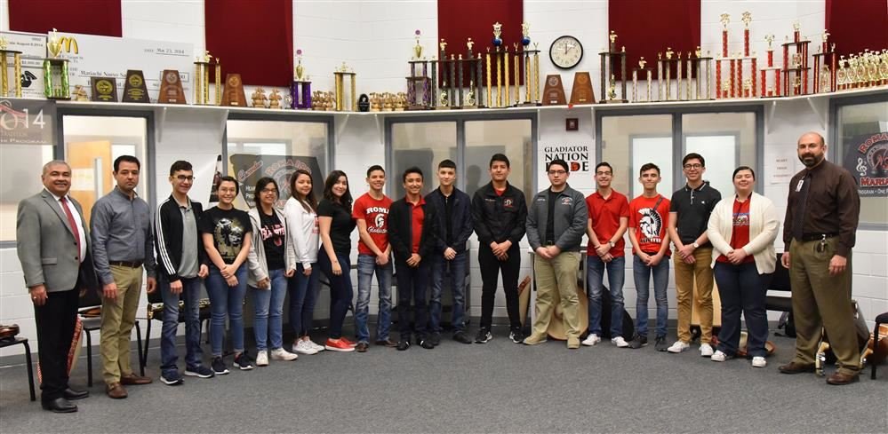 Roma ISD Admins Honor Roma High Mariachi