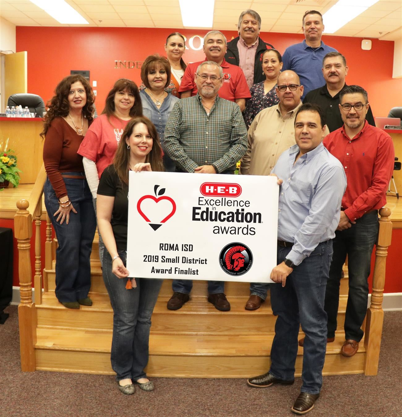 Roma ISD is proud to announce the district's selection as an H-E-B Excellence in Education 2019 Small District Award Finalist