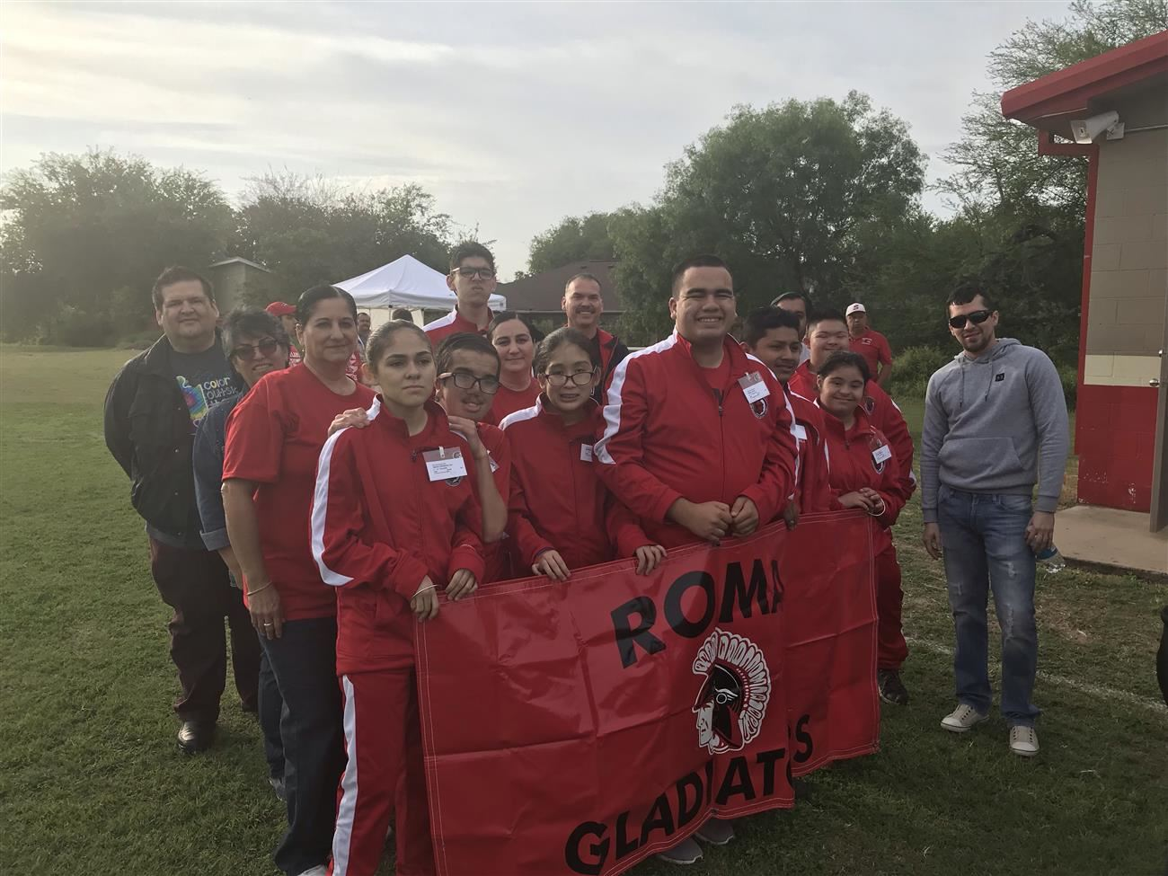 Roma ISD Special Olympians at Soccer Tournament.