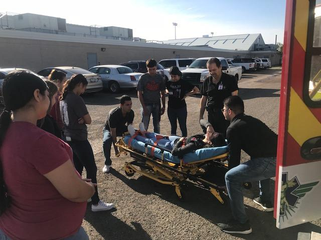 Roma High Students Engage in New EMT Training Program