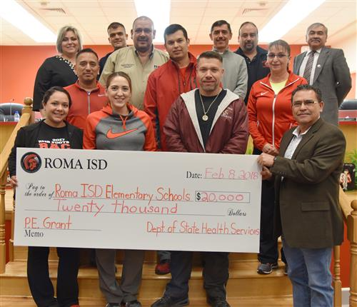 Roma ISD PE Department Team with School Board.
