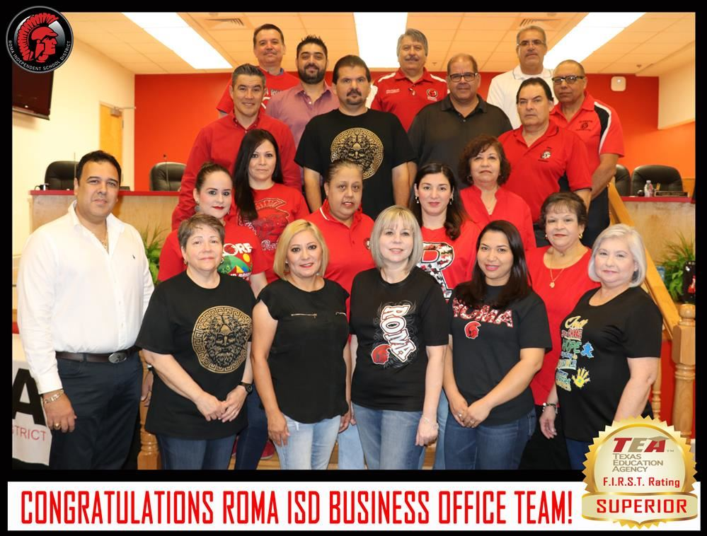 "Roma ISD Earns ""Superior"" F.I.R.S.T. Rating, Earns Perfect Score from TEA for Financial Practices"