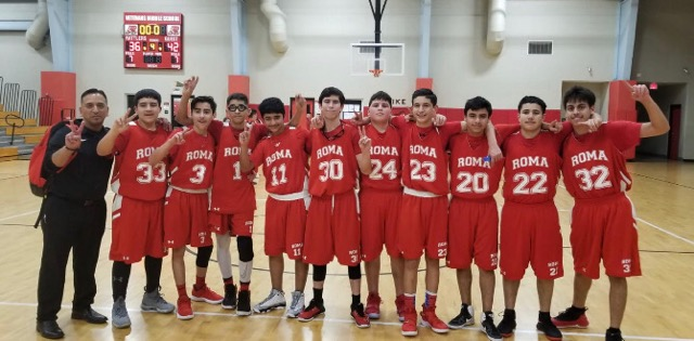 Roma Middle Boys Basketball 8th Grade A Team District Champs