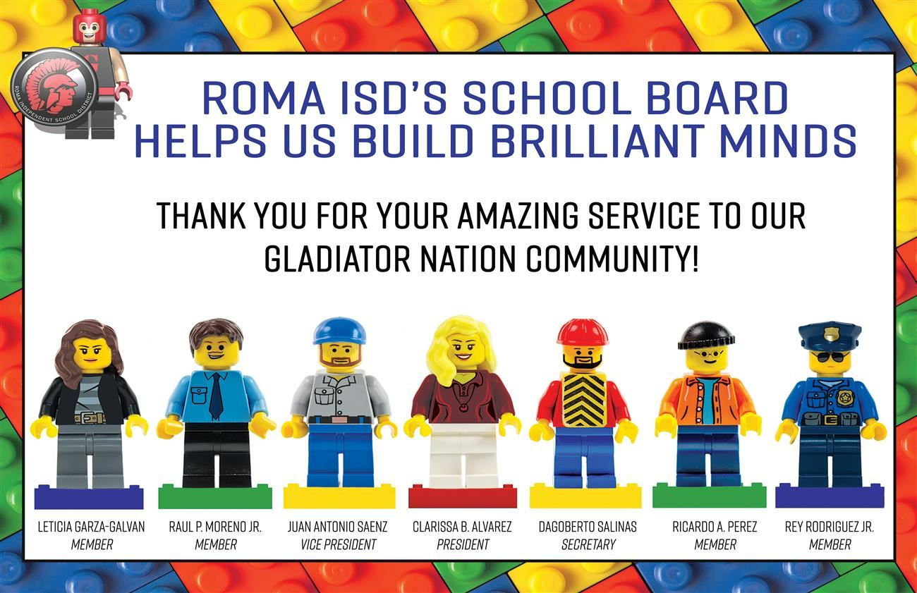 January is National School Board Appreciation Month. We thank our Roma ISD School Board members for their volunteerism.