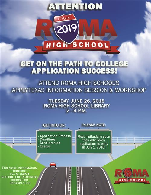 Summer College Application Workshop.
