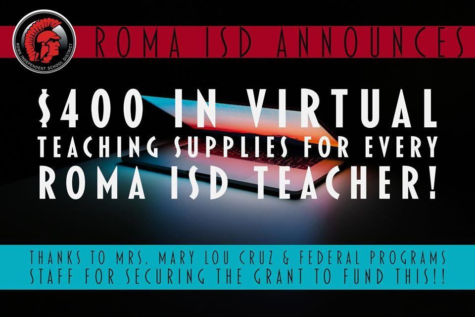 Roma ISD Teachers Get $400 for Virtual Supplies for 2020-2021