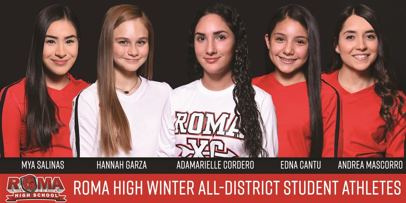 Five Roma High School Female Athletes Selected to All-District Teams