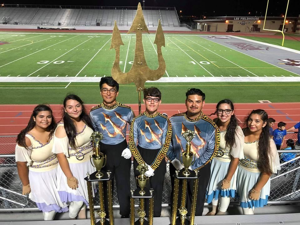 Roma High Marching Band Leadership.